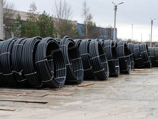 Polyethylene pipes for pressure water
